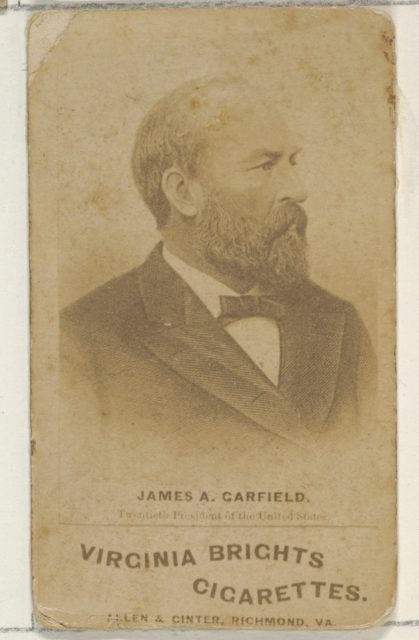 James A. Garfield, from the Presidents of the United States series (N51) for Virginia Brights Cigarettes