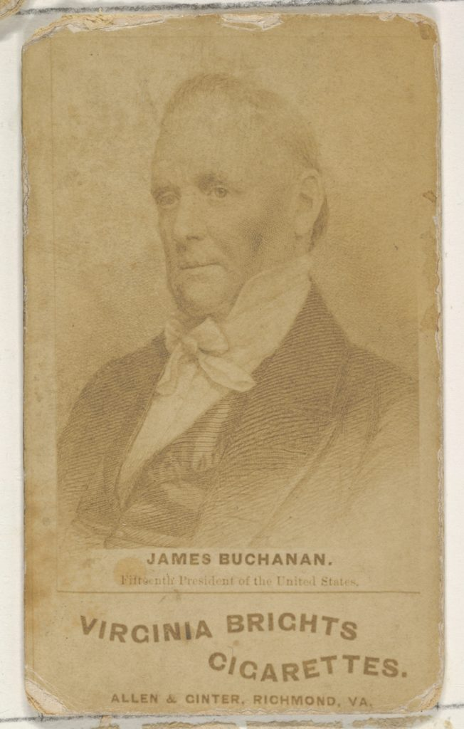 James Buchanan, from the Presidents of the United States series (N51) for Virginia Brights Cigarettes