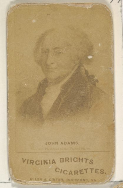 John Adams, from the Presidents of the United States series (N51) for Virginia Brights Cigarettes