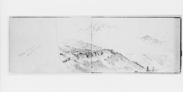 Mount Tacoma Aug 23 1885 (from Sketchbook X)