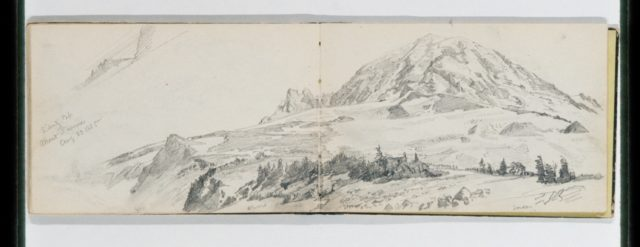 Sibertz Cap, Mount Tacoma Aug 23 1885 (from Sketchbook X)