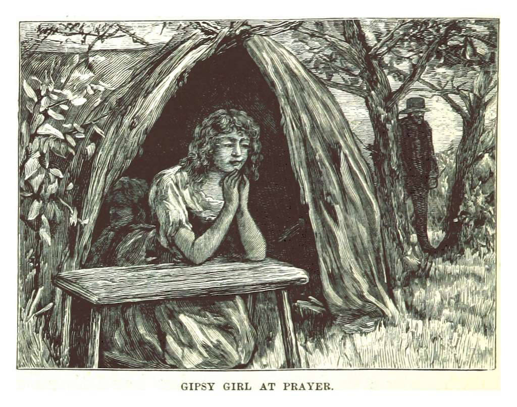 MORWOOD(1885) p302 GIPSY GIRL AT PRAYER