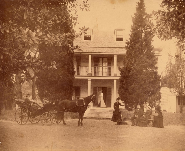 Pearce family, Blenheim House, Randwick, Sydney, N.S.W., ca. 1885 / photographer J. Roarty, Mkt. St., George St.