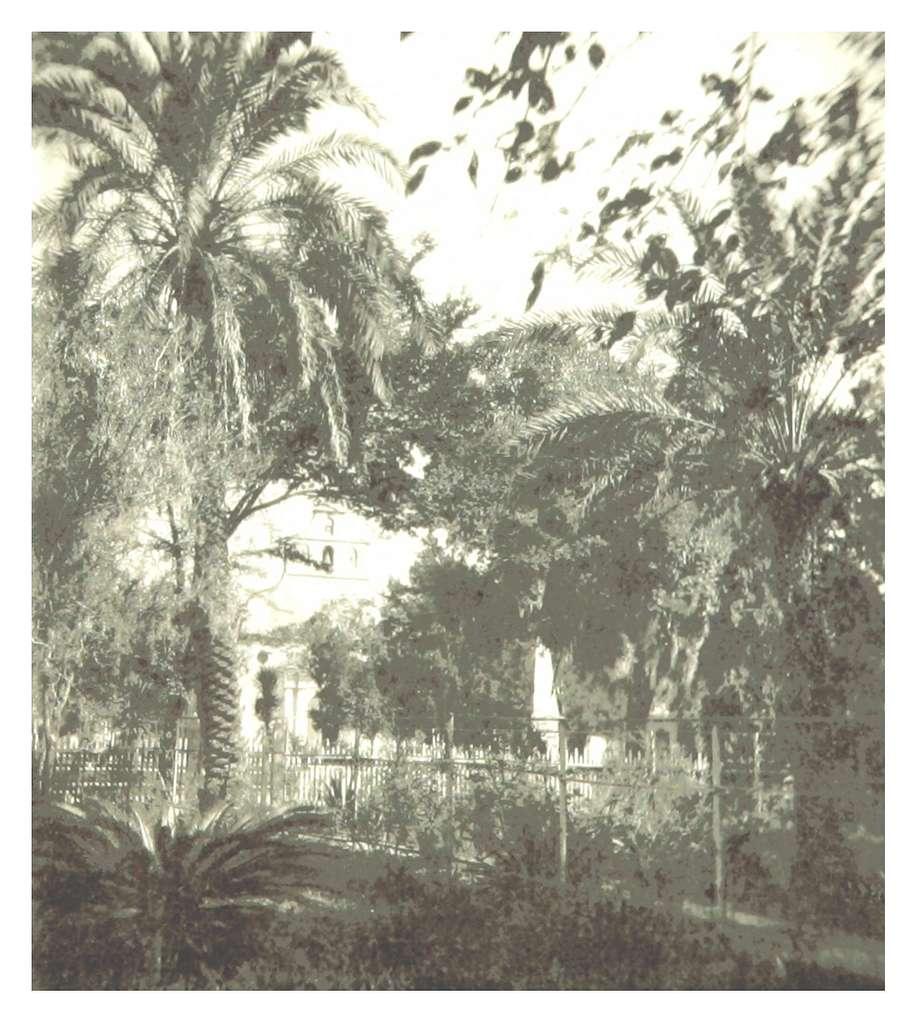 REYNOLDS(1885) p146 GARDEN OVERLOOKING PLAZA
