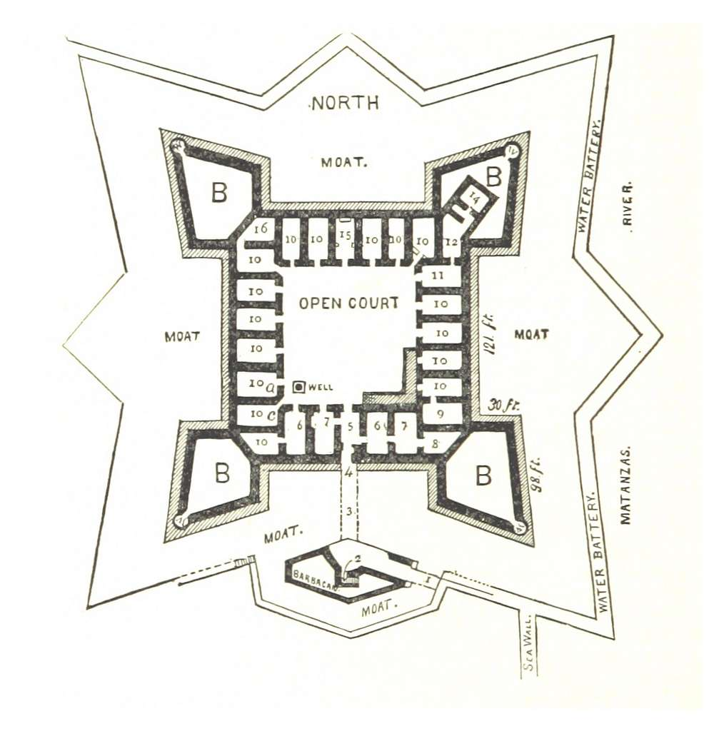 REYNOLDS(1885) p154 FORT MARION, GROUND PLAN