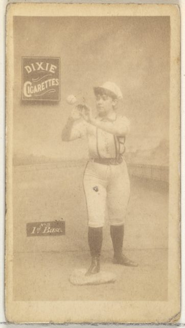 1st Base, from the Girl Baseball Players series (N48, Type 2) for Dixie Cigarettes