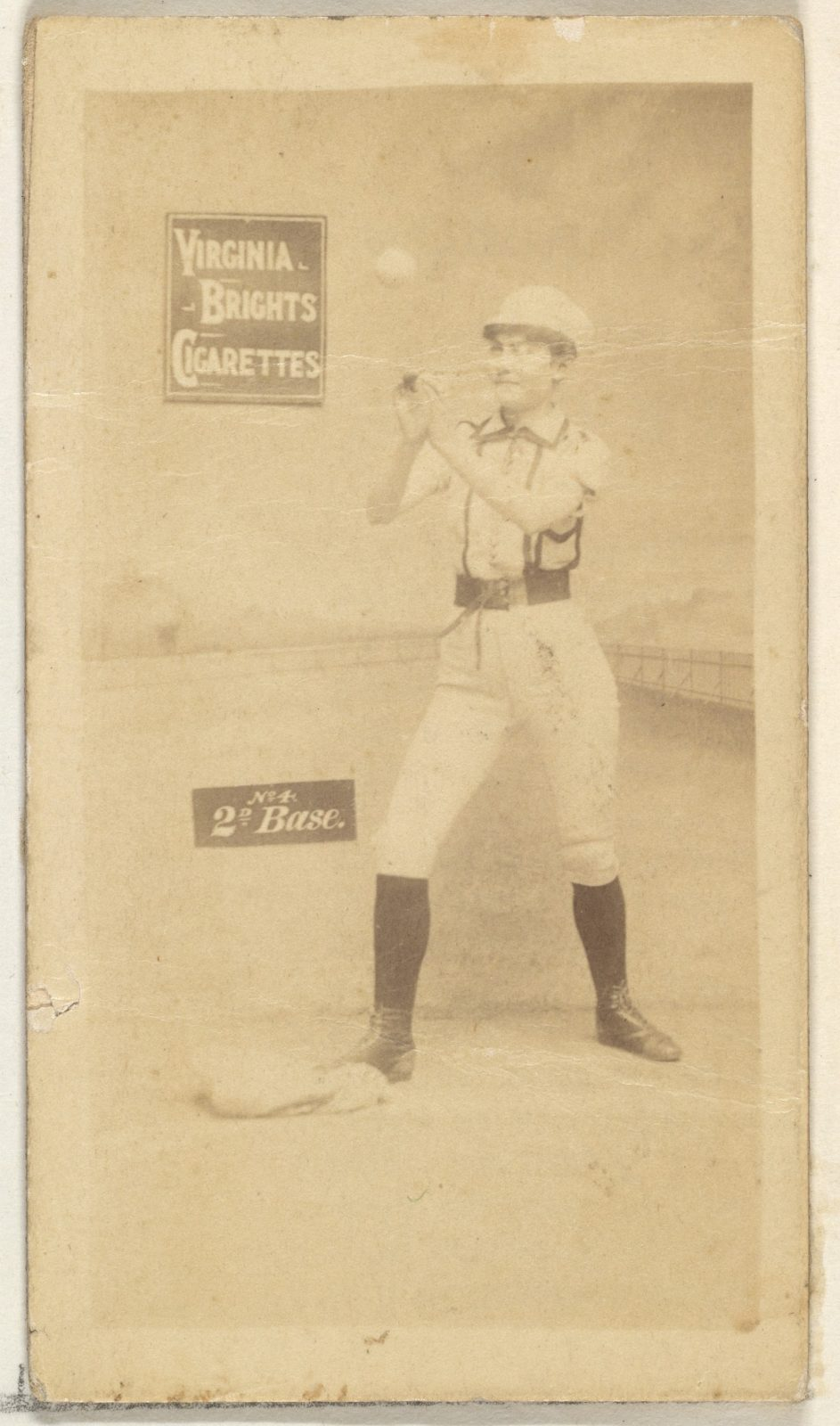 2nd Base, from the Girl Baseball Players series (N48, Type 2) for Virginia Brights Cigarettes