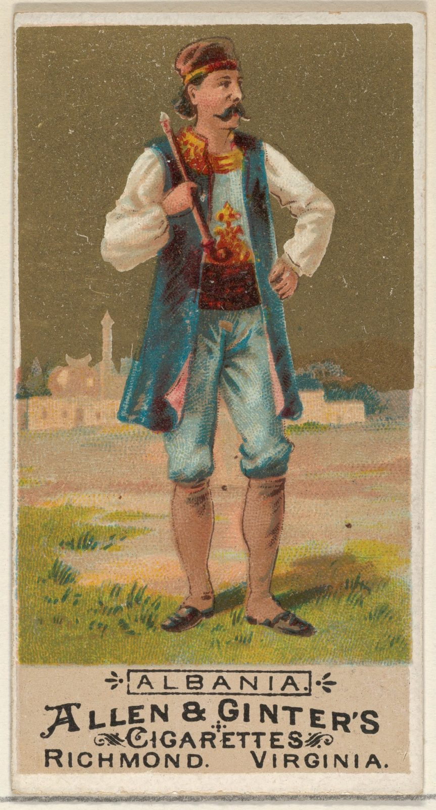 Albania, from the Natives in Costume series (N16) for Allen & Ginter Cigarettes Brands