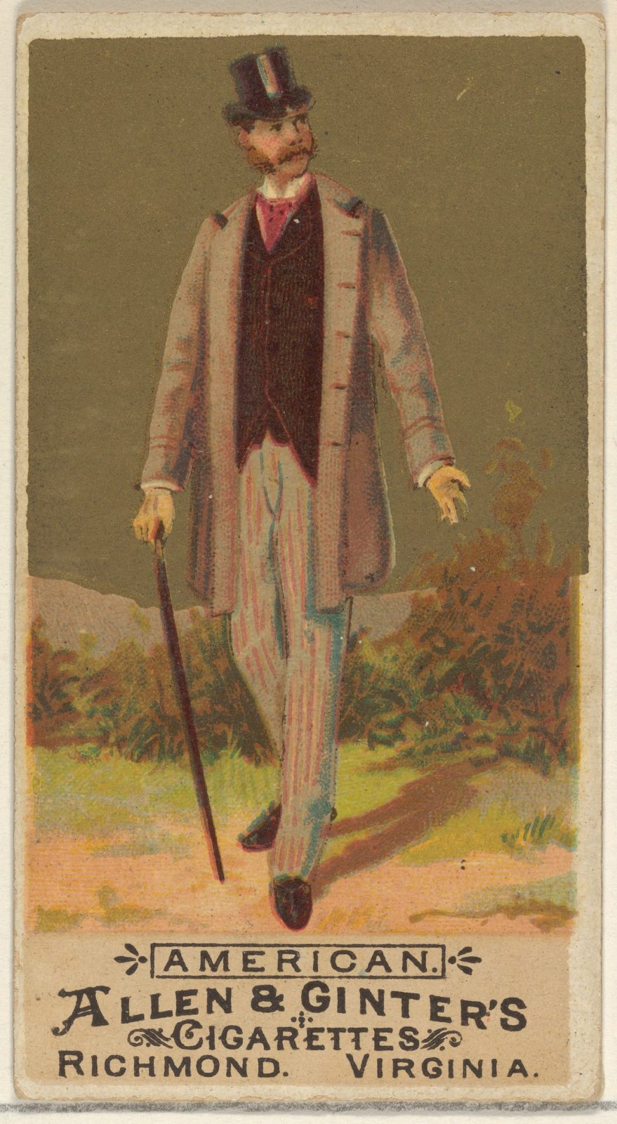 American, from the Natives in Costume series (N16) for Allen & Ginter Cigarettes Brands