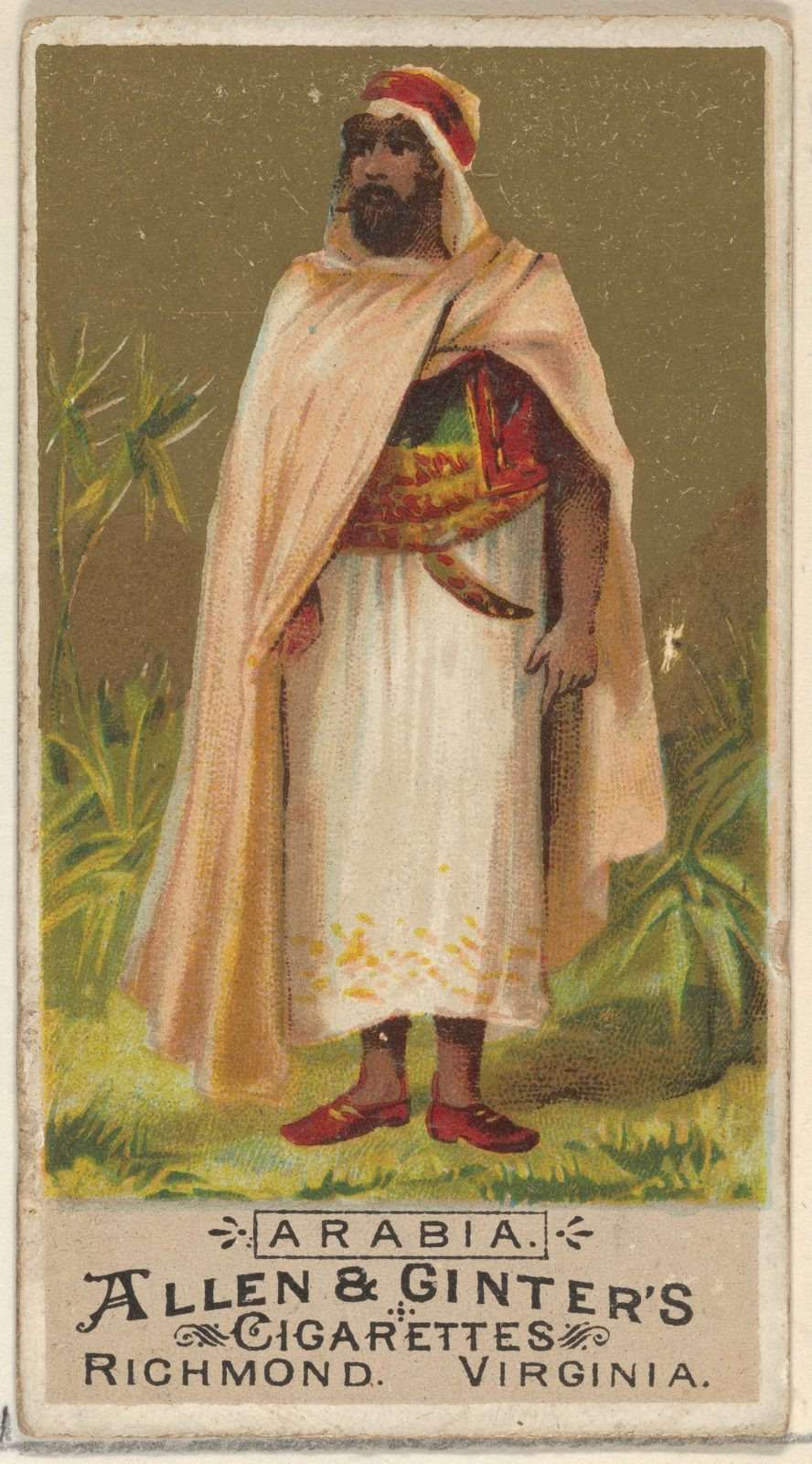 Arabia, from the Natives in Costume series (N16) for Allen & Ginter Cigarettes Brands