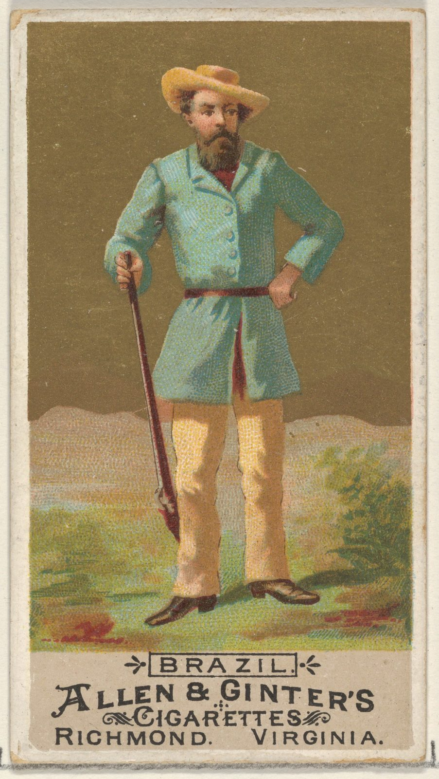 Brazil, from the Natives in Costume series (N16) for Allen & Ginter Cigarettes Brands