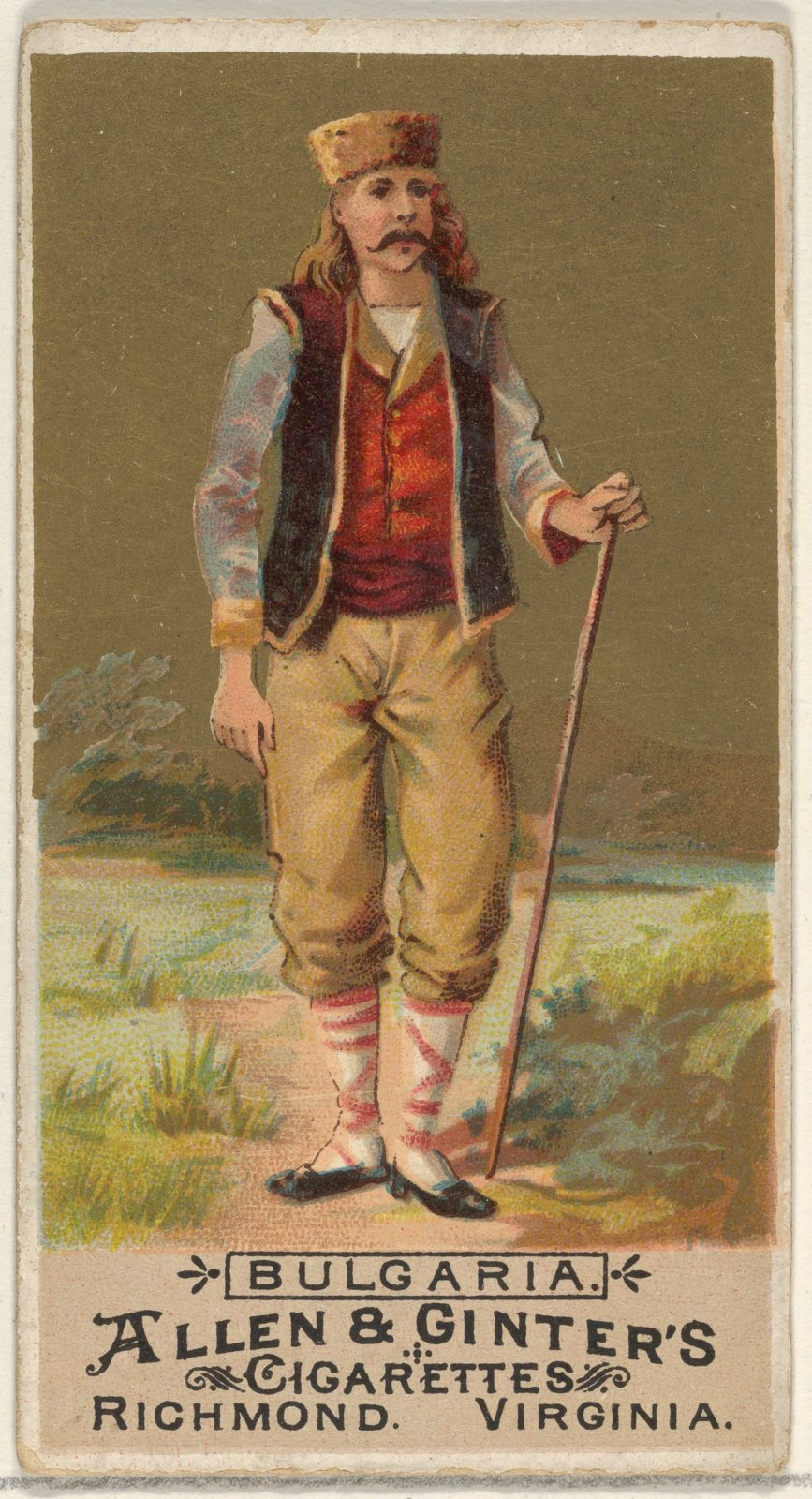 Bulgaria, from the Natives in Costume series (N16) for Allen & Ginter Cigarettes Brands