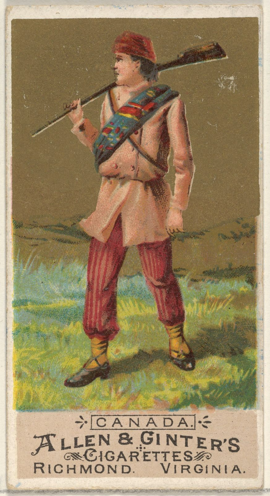 Canada, from the Natives in Costume series (N16) for Allen & Ginter Cigarettes Brands