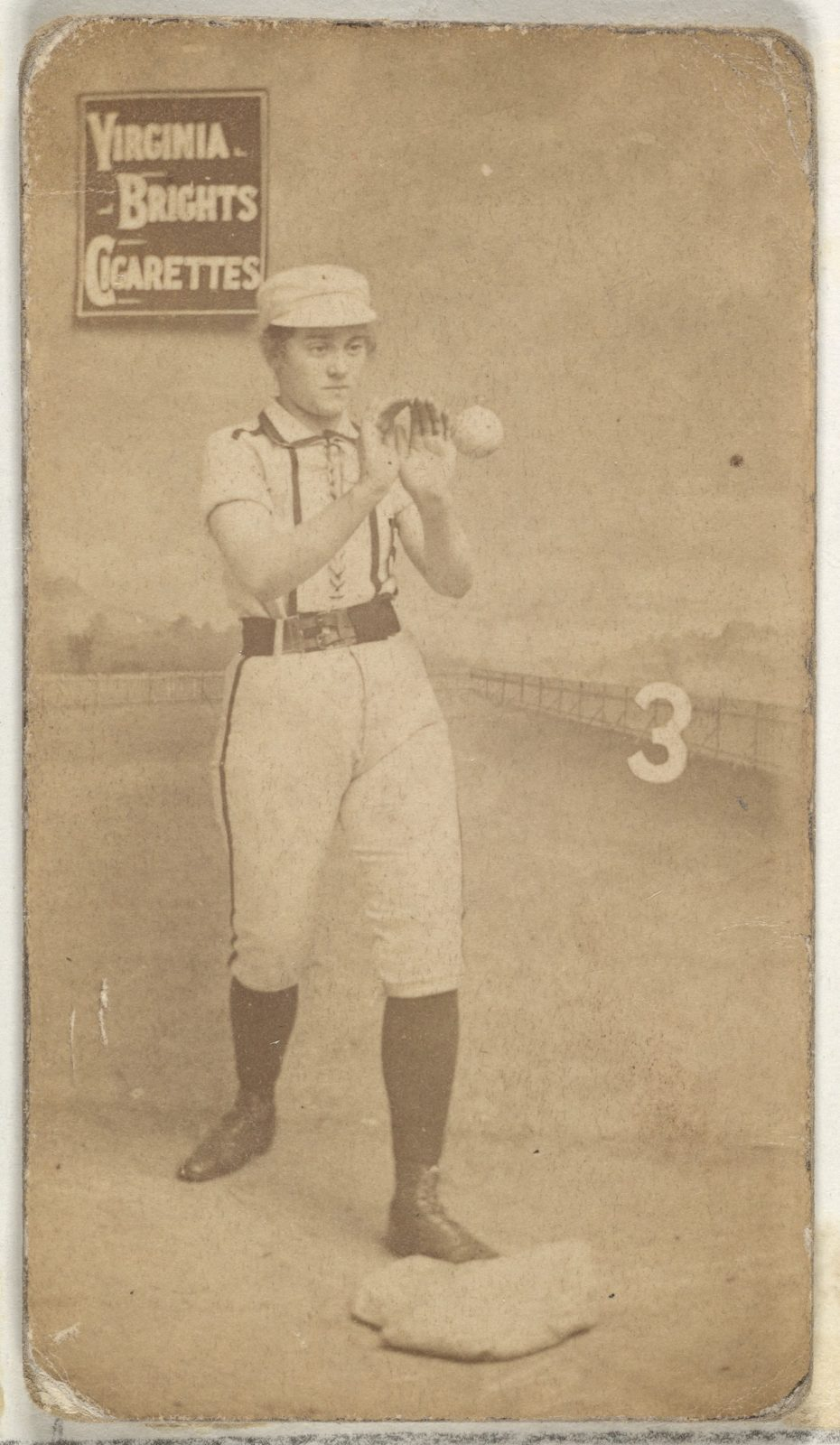 Card 3 From The Girl Baseball Players Series N48 Type 2 For