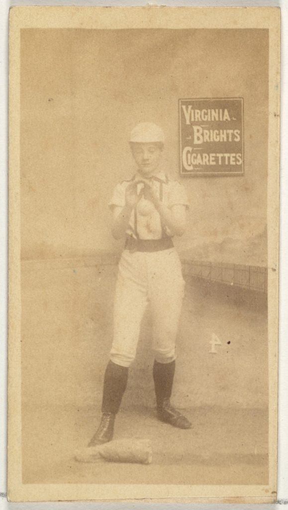 Card 4, from the Girl Baseball Players series (N48, Type 2) for Virginia Brights Cigarettes
