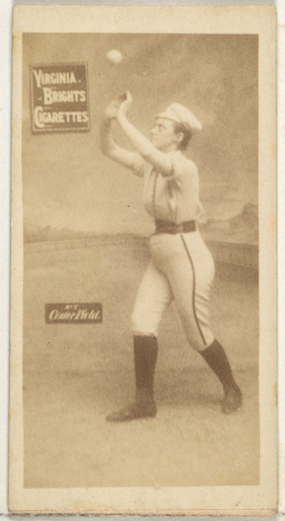 Center Field, from the Girl Baseball Players series (N48, Type 2) for Virginia Brights Cigarettes