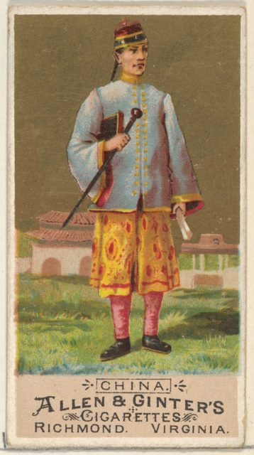 China, from the Natives in Costume series (N16) for Allen & Ginter Cigarettes Brands
