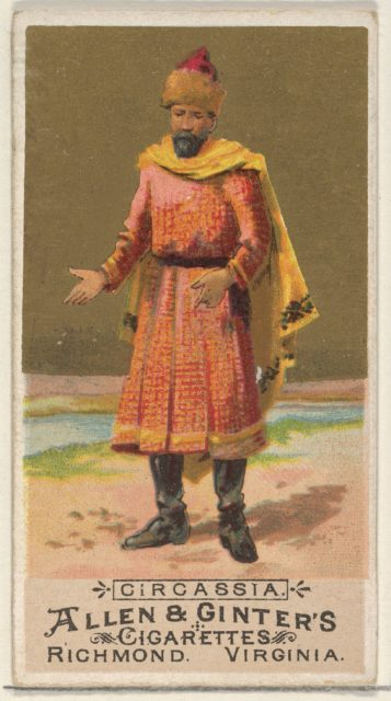 Circassia, from the Natives in Costume series (N16) for Allen & Ginter Cigarettes Brands