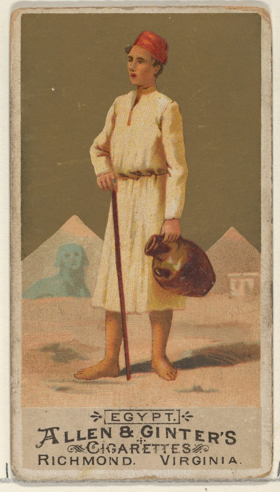 Egypt, from the Natives in Costume series (N16) for Allen & Ginter Cigarettes Brands