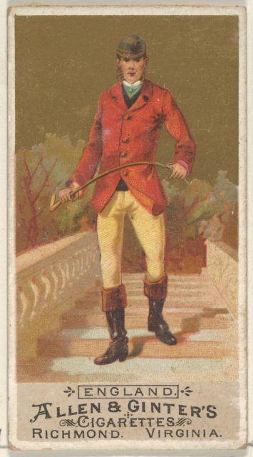 England, from the Natives in Costume series (N16) for Allen & Ginter Cigarettes Brands