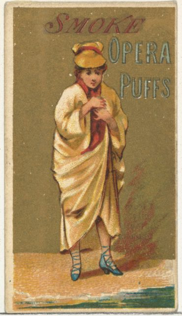 From the Girls and Children series (N65) promoting Opera Puffs Cigarettes for Allen & Ginter brand tobacco products