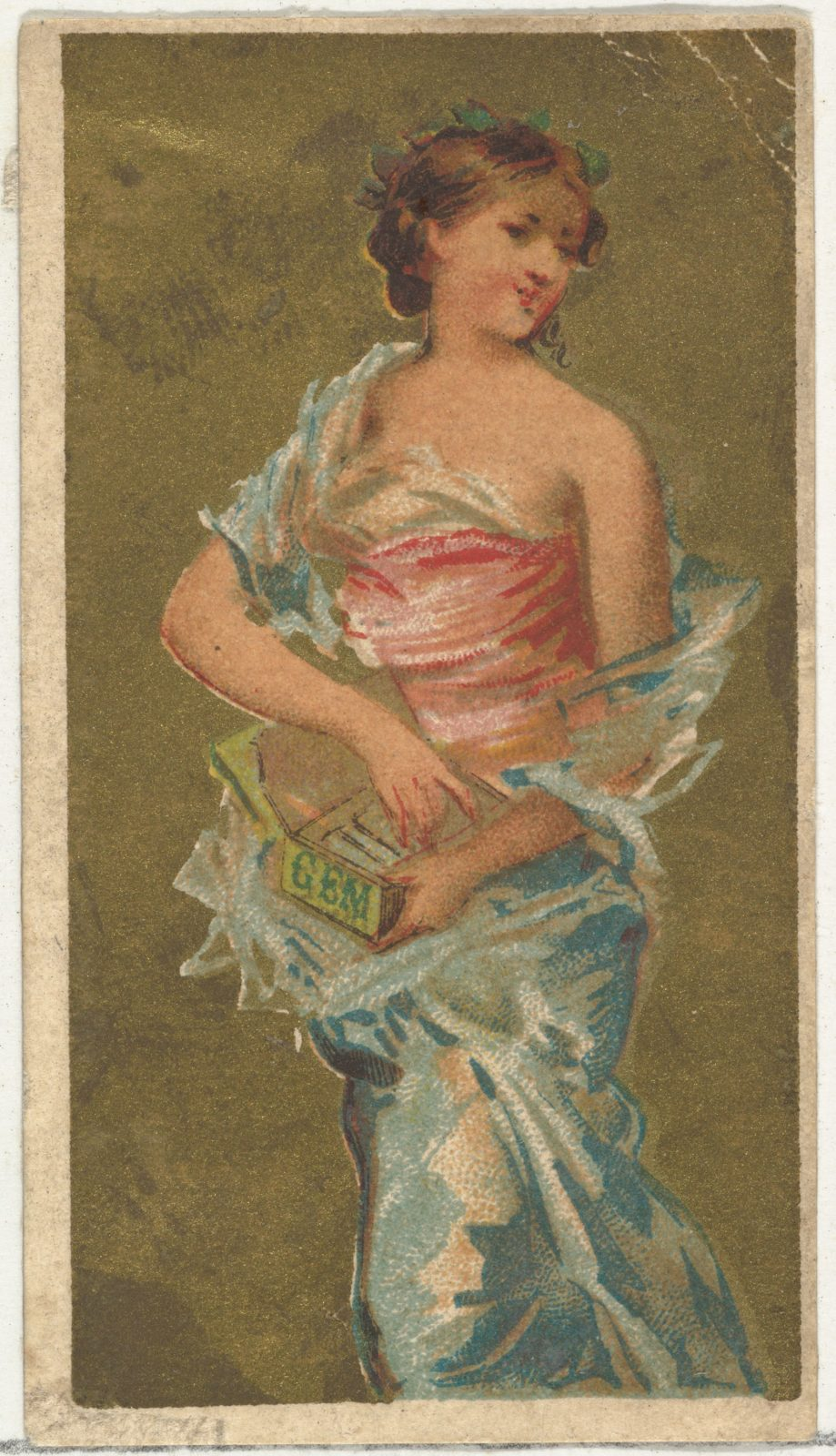 From the Girls and Children series (N65) promoting Richmond Gem Cigarettes for Allen & Ginter brand tobacco products
