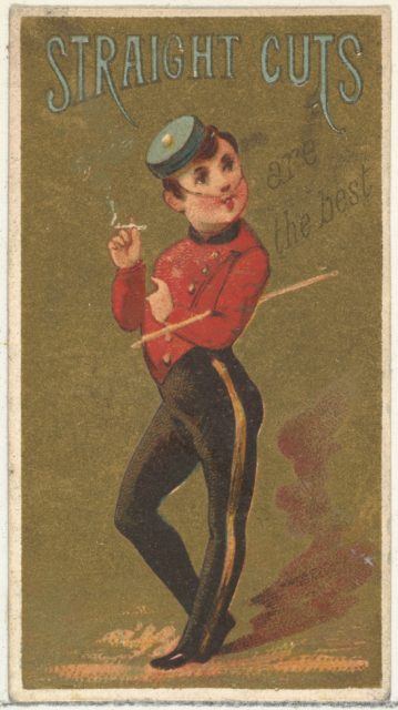 From the Girls and Children series (N65) promoting Richmond Straight Cut Cigarettes for Allen & Ginter brand tobacco products