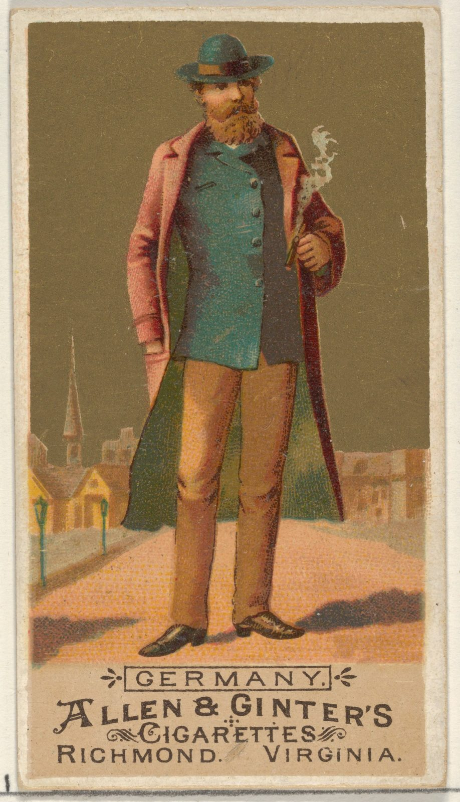 Germany, from the Natives in Costume series (N16) for Allen & Ginter Cigarettes Brands