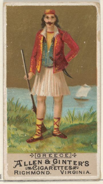 Greece, from the Natives in Costume series (N16) for Allen & Ginter Cigarettes Brands