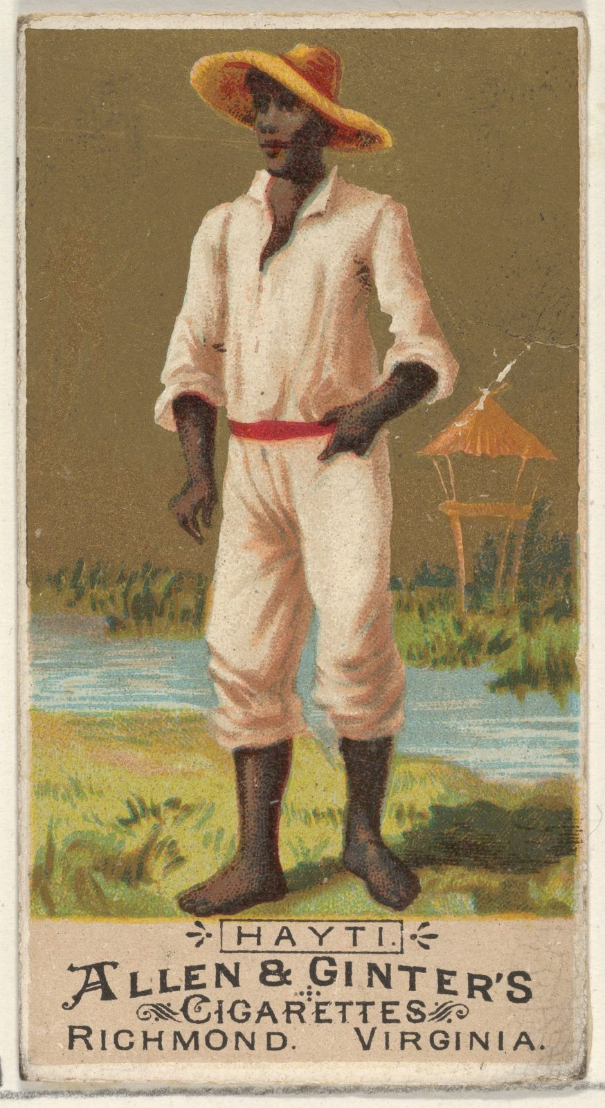 Haiti, from the Natives in Costume series (N16) for Allen & Ginter Cigarettes Brands