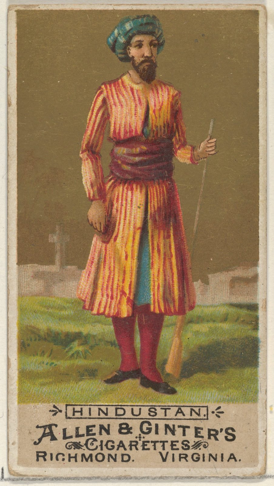 Hindustan, from the Natives in Costume series (N16) for Allen & Ginter Cigarettes Brands