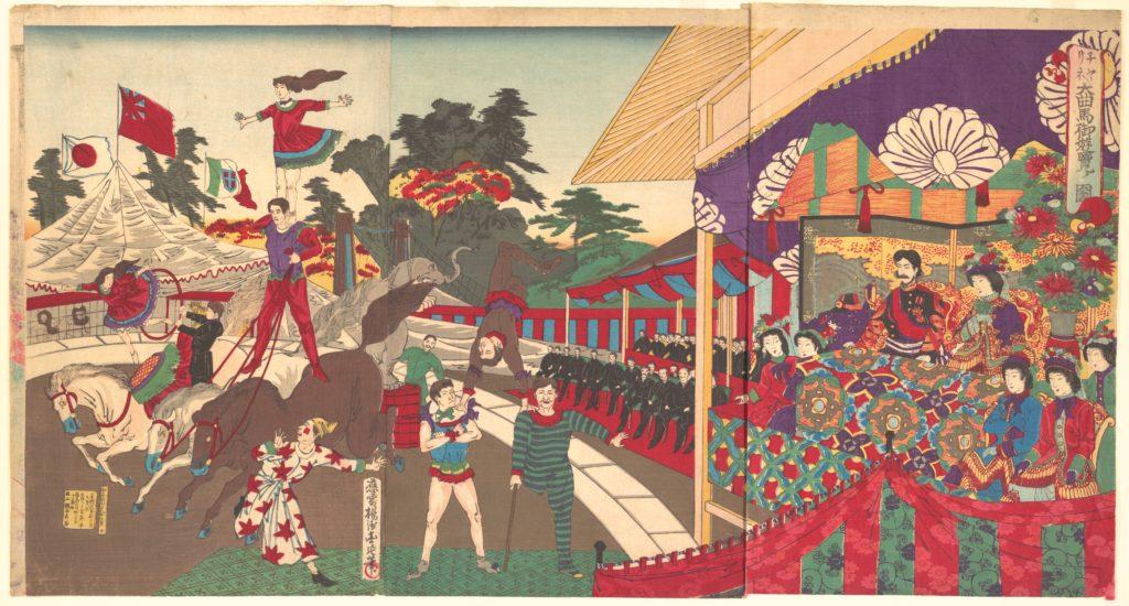 Illustration of the Imperial Excursion to see the Charini's Circus (Charine daikyokuba goyūran no zu)