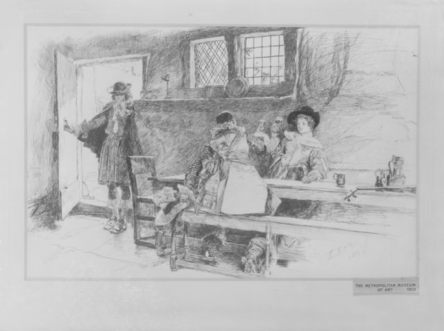"""In a Tavern, Illustration for """"Phillada Flouts Me"""""""