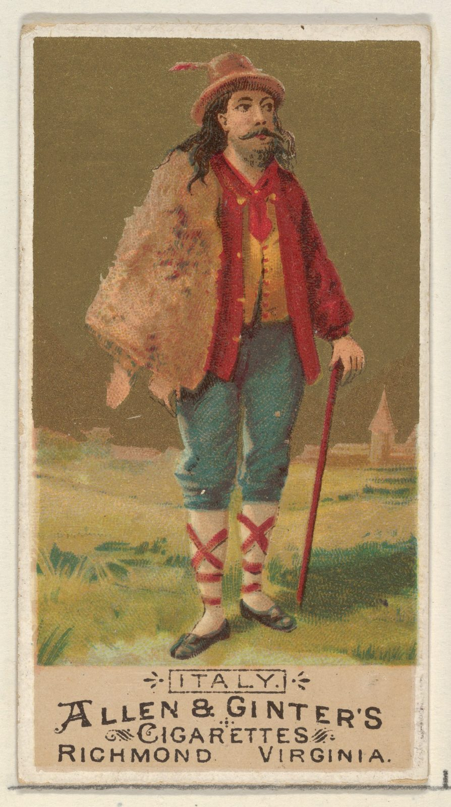 Italy, from the Natives in Costume series (N16) for Allen & Ginter Cigarettes Brands