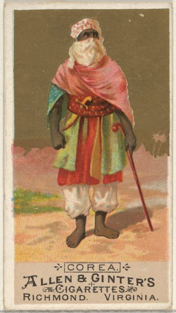 Korea, from the Natives in Costume series (N16) for Allen & Ginter Cigarettes Brands