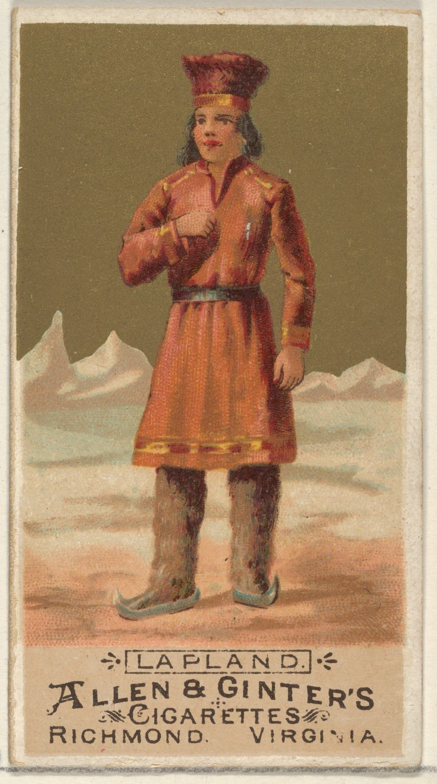 Lapland, from the Natives in Costume series (N16) for Allen & Ginter Cigarettes Brands