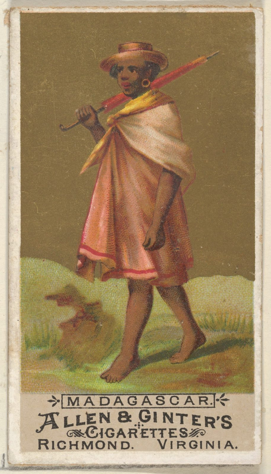 Madagascar, from the Natives in Costume series (N16) for Allen & Ginter Cigarettes Brands
