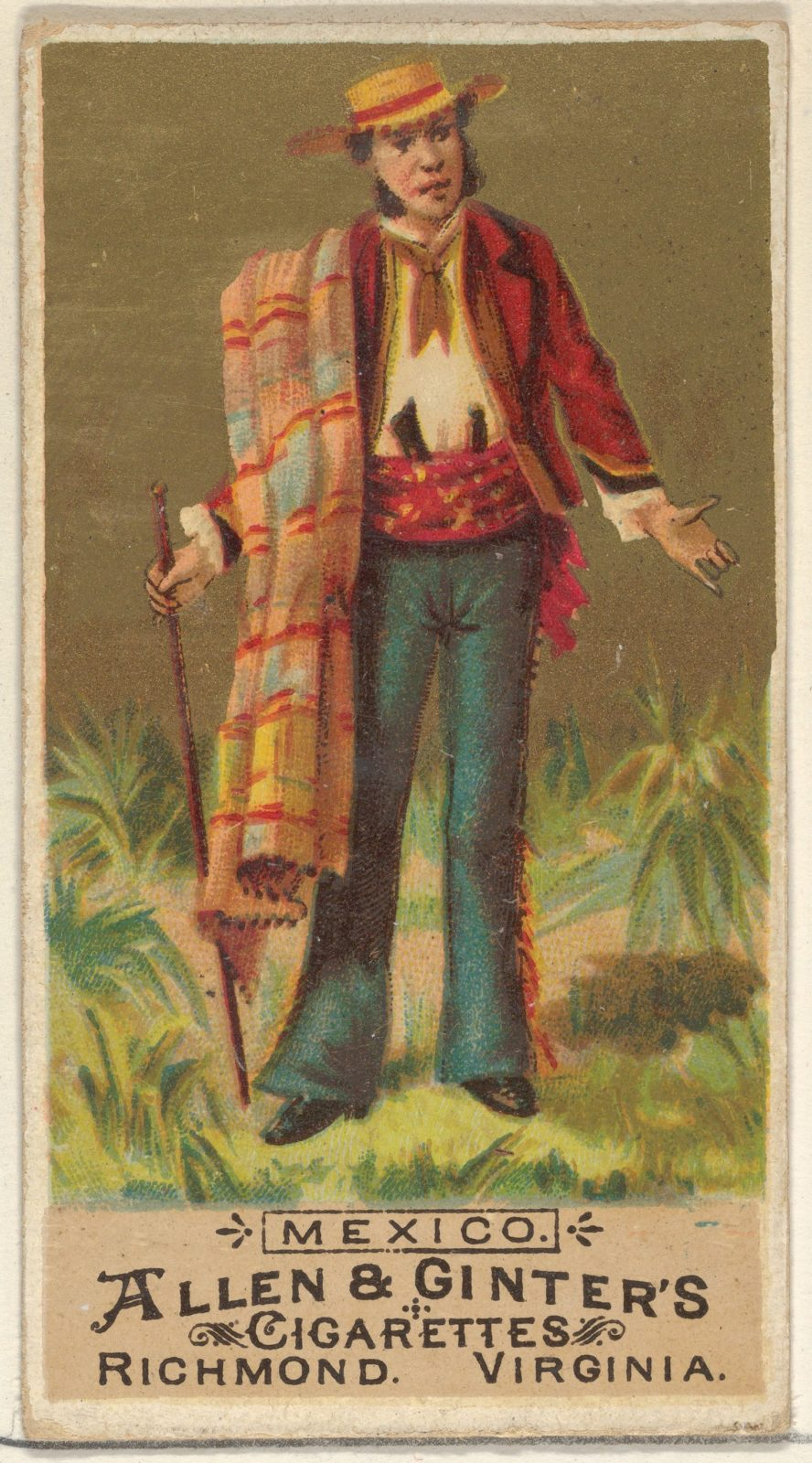 Mexico, from the Natives in Costume series (N16) for Allen & Ginter Cigarettes Brands