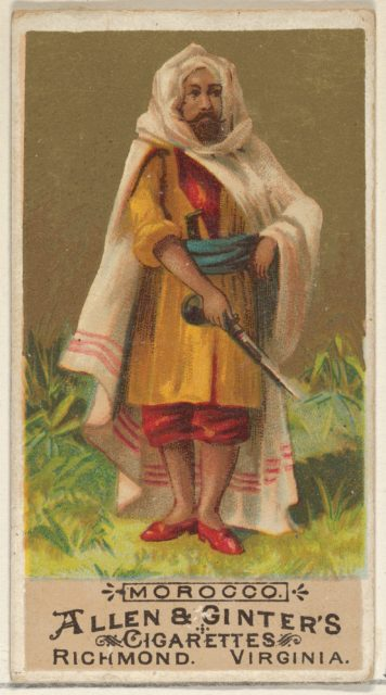 Morocco, from the Natives in Costume series (N16) for Allen & Ginter Cigarettes Brands