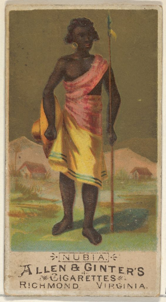 Nubia, from the Natives in Costume series (N16) for Allen & Ginter Cigarettes Brands