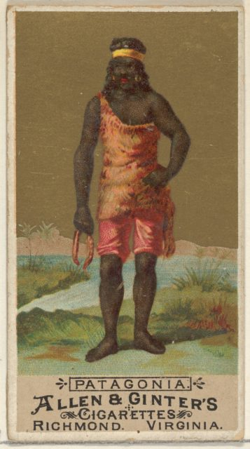 Patagonia, from the Natives in Costume series (N16) for Allen & Ginter Cigarettes Brands