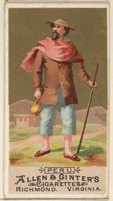 Peru, from the Natives in Costume series (N16) for Allen & Ginter Cigarettes Brands