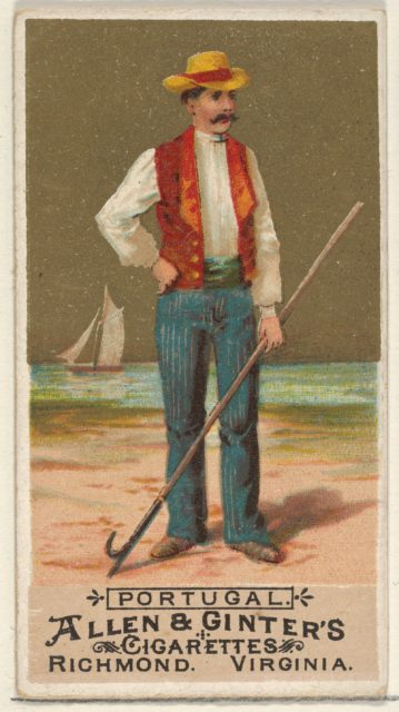 Portugal, from the Natives in Costume series (N16) for Allen & Ginter Cigarettes Brands