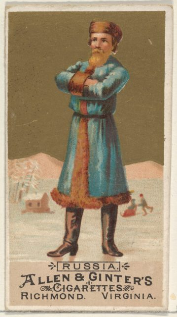 Russia, from the Natives in Costume series (N16) for Allen & Ginter Cigarettes Brands