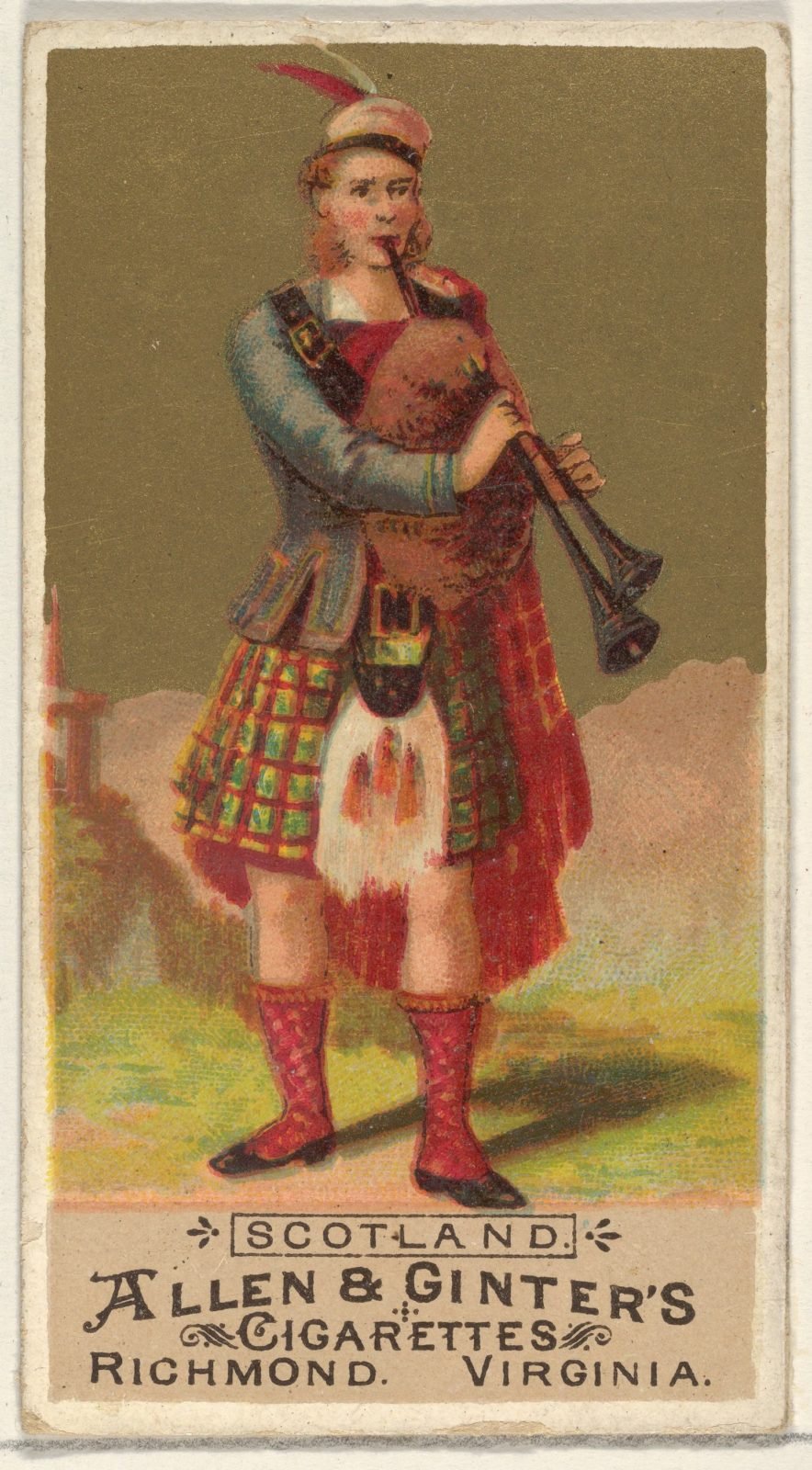 Scotland, from the Natives in Costume series (N16) for Allen & Ginter Cigarettes Brands