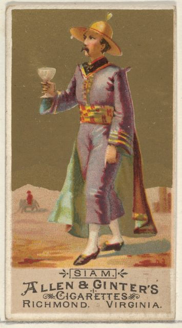 Siam, from the Natives in Costume series (N16) for Allen & Ginter Cigarettes Brands