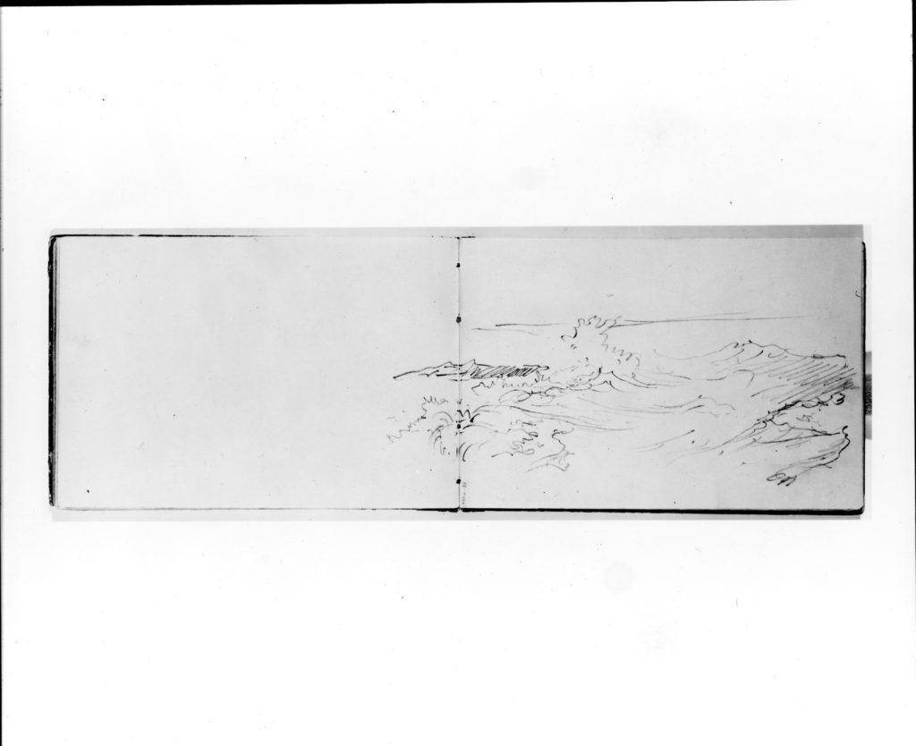 Sketch of a Breaking Wave (from Sketchbook VII)