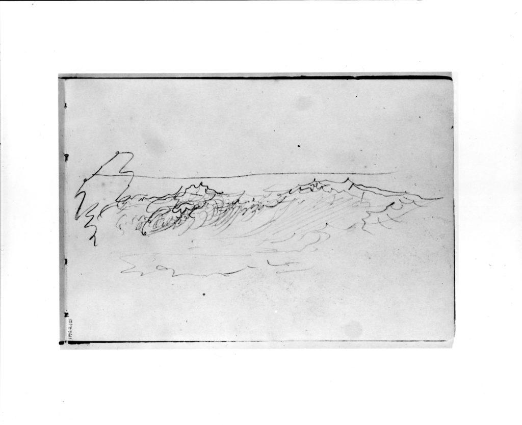 Sketch of Breaking Waves (from Sketchbook VII)