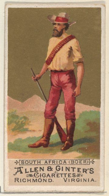 South Africa (Boer), from the Natives in Costume series (N16) for Allen & Ginter Cigarettes Brands