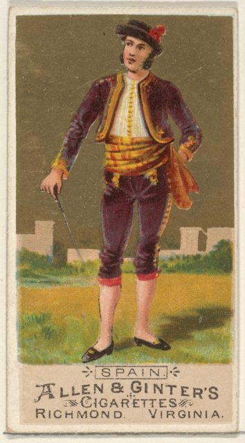 Spain, from the Natives in Costume series (N16) for Allen & Ginter Cigarettes Brands